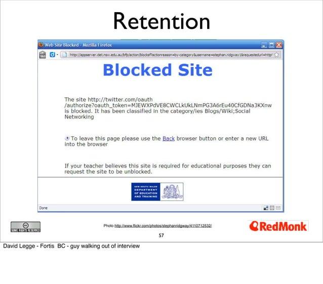 Retention                                       Photo http://www.flickr.com/photos/stephanridgway/4110712532/             ...