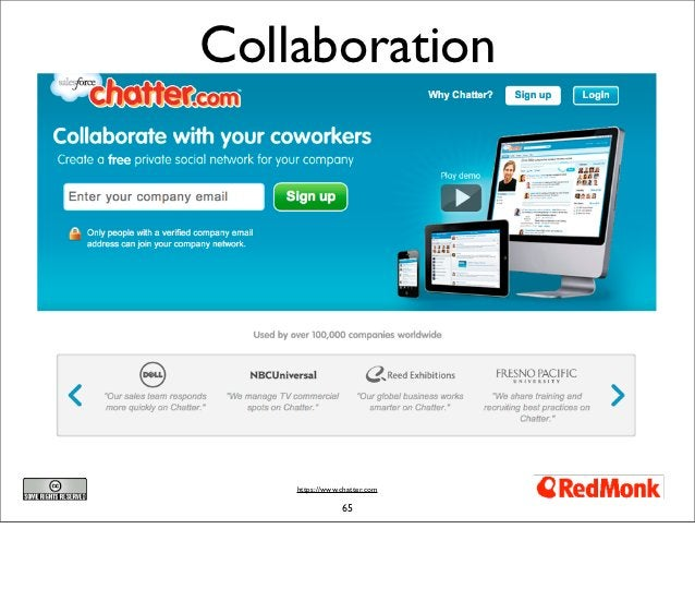 Collaboration    https://www.chatter.com                65