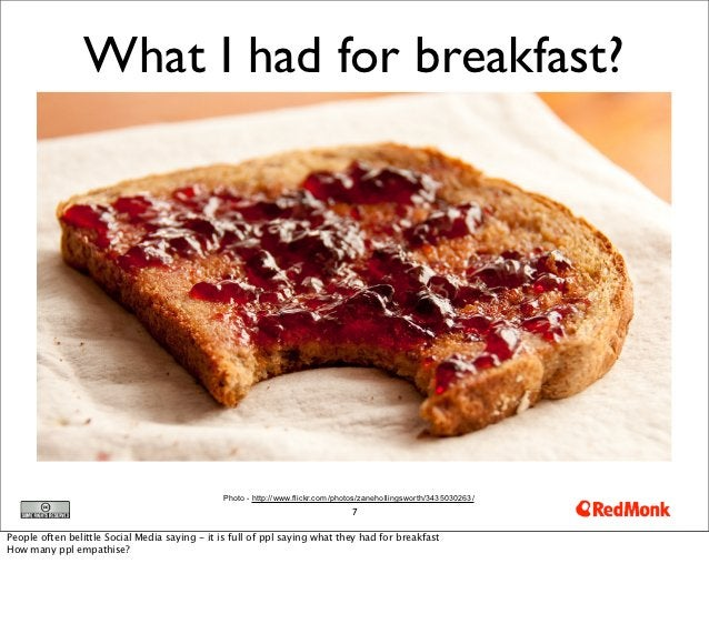 What I had for breakfast?                                               Photo - http://www.flickr.com/photos/zanehollingsw...