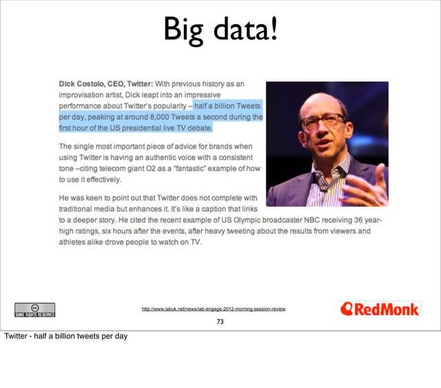 Big data!                                          http://www.iabuk.net/news/iab-engage-2012-morning-session-review       ...