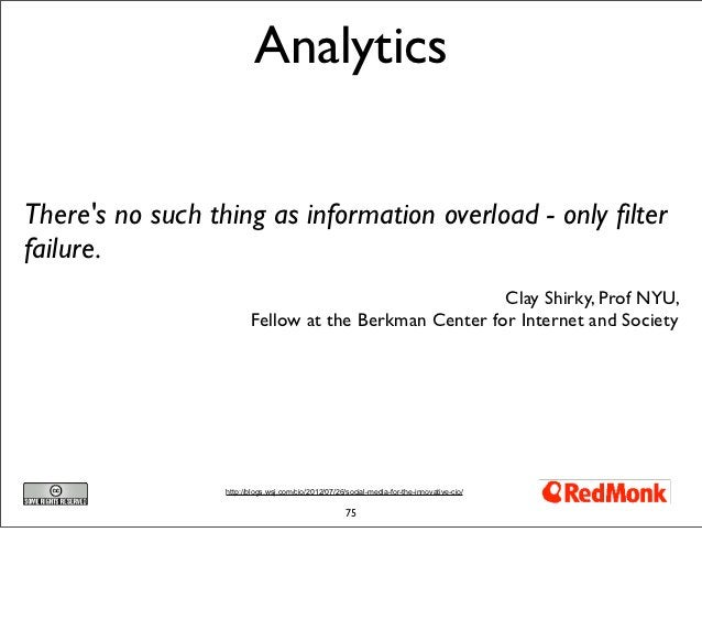 AnalyticsTheres no such thing as information overload - only filterfailure.                                                ...