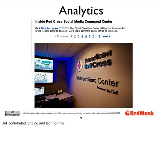 Analytics              http://www.informationweek.com/government/information-management/inside-red-cross-social-media-comm...