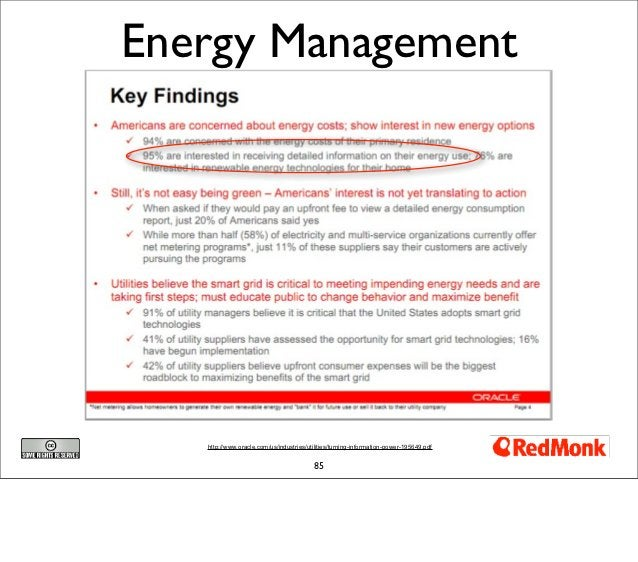 Energy Management   http://www.oracle.com/us/industries/utilities/turning-information-power-195649.pdf                    ...