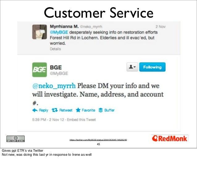 Customer Service                                             https://twitter.com/MyBGE/status/264406364514828290          ...