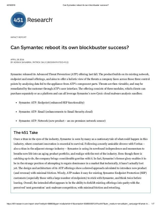 Can Symantec reboot its own blockbuster success