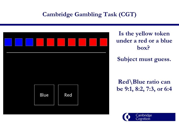 Cambridge gambling task kem playing cards casino cards