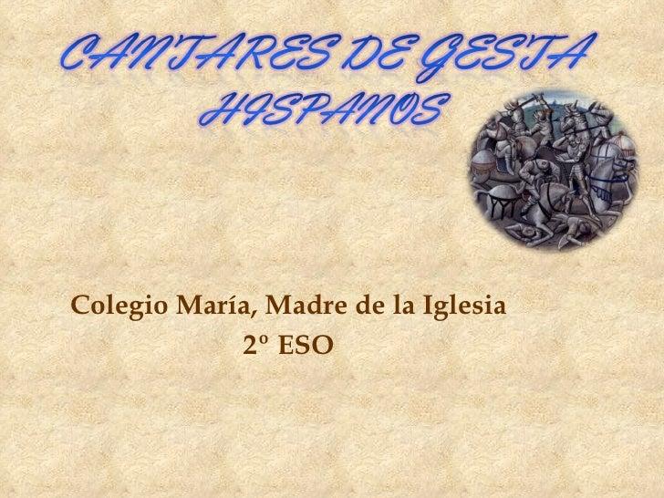 Colegio María, Madre de la Iglesia 2º ESO