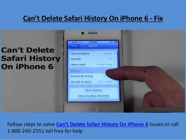 Can't Delete Safari History On iPhone 6 - Fix Follow steps to solve Can't Delete Safari History On iPhone 6 Issues or call...