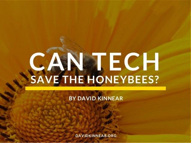 CAN TECH DAVIDKINNEAR.ORG SAVE THE HONEYBEES? BY DAVID KINNEAR