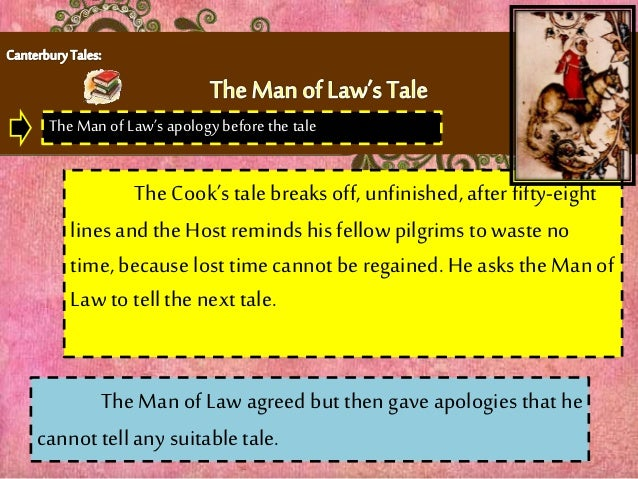 the canterbury tales the man of law
