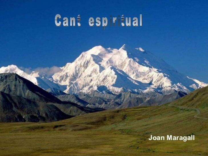 Cant  espiritual Joan Maragall