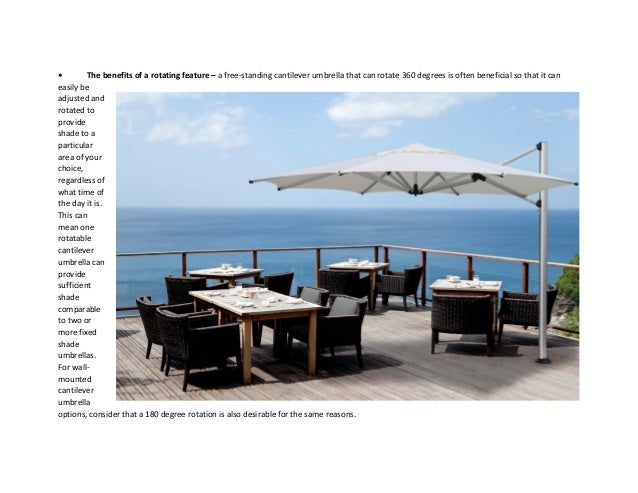 Cantilever Umbrella - How to Choose the Right One For You!