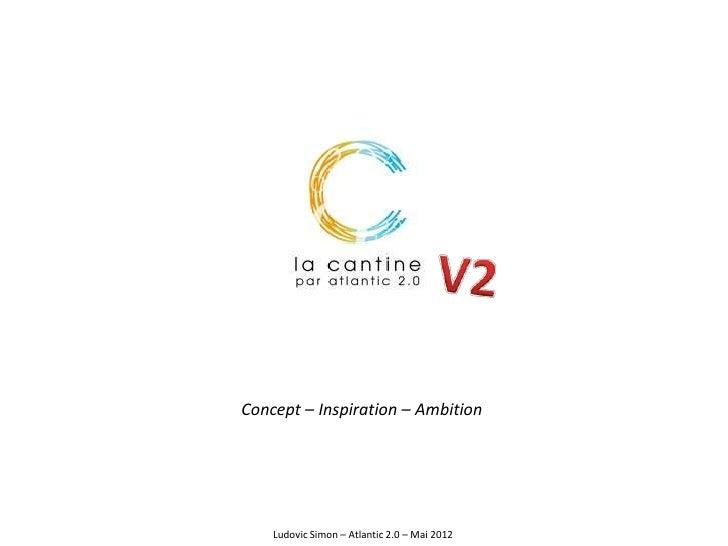 Concept – Inspiration – Ambition    Ludovic Simon – Atlantic 2.0 – Mai 2012