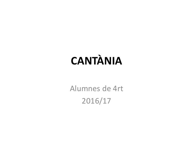 CANTÀNIA Alumnes de 4rt 2016/17