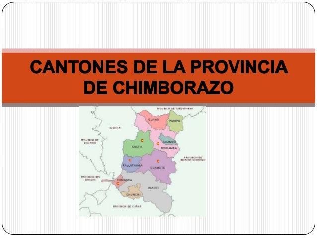 La provincia de Chimborazo, conocida como la provinciade las altas cumbres, debido a que en ella seencuentran algunas de l...