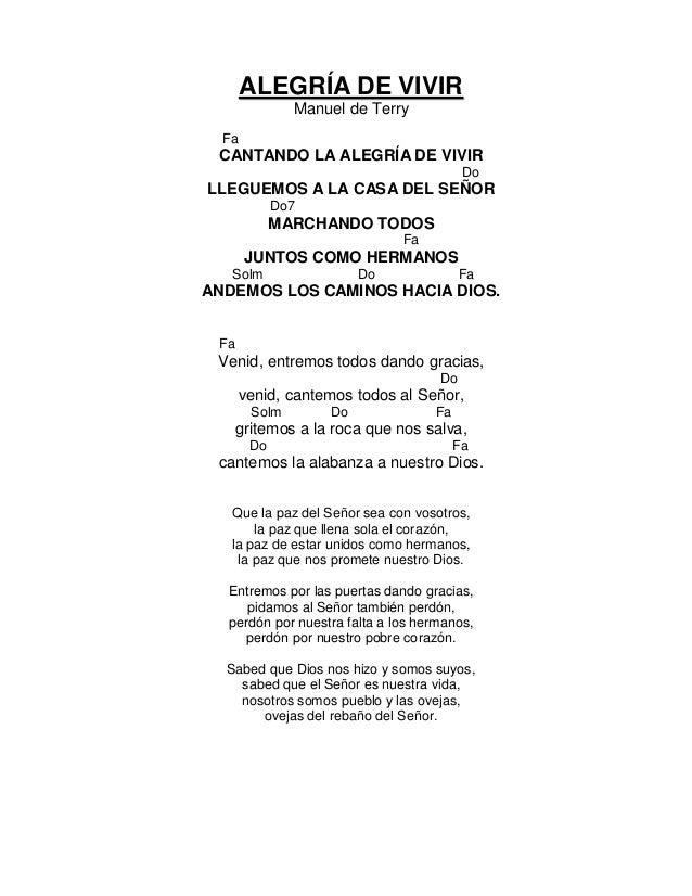 Cantoral de entrada con acordes 2016 - La casa de la alegria ...