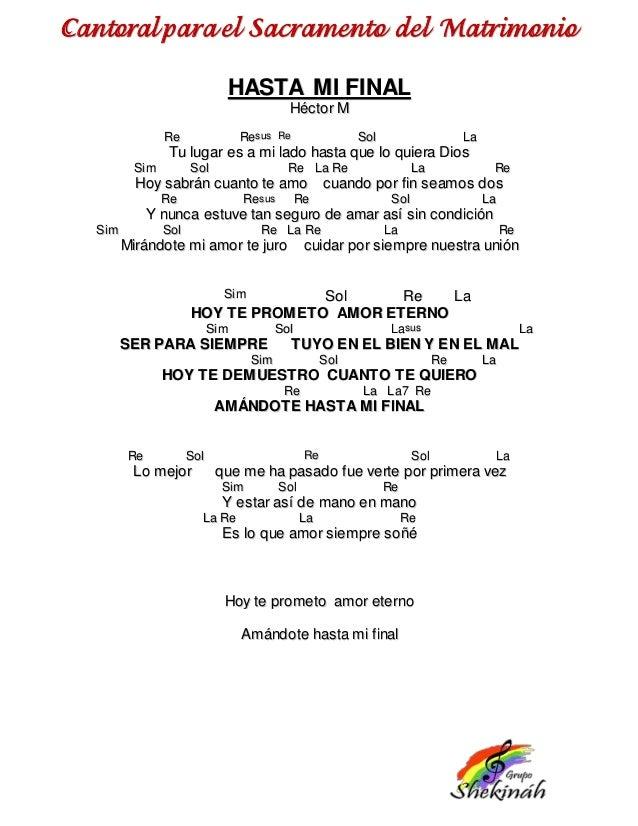 Cantoral para matrimonios con acordes for Piano anteriore del camino