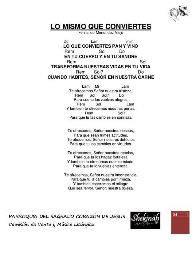 Cantoral Presentación De Los Dones Con Acordes 2012
