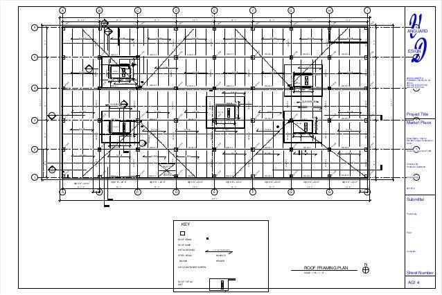 Cantoro market bldg system 2 sheet - ag1-4 - roof framing plan