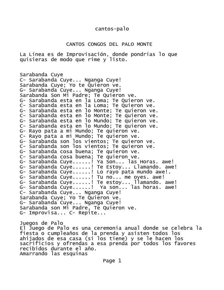 cantos-palo               CANTOS CONGOS DEL PALO MONTELa Línea es de Improvisación, donde pondrías lo quequisieras de modo...