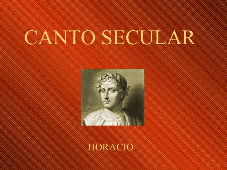 CANTO SECULAR HORACIO