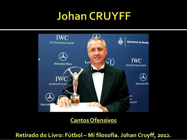 Cantos OfensivosRetirado do Livro: Fútbol – Mi filosofia. Johan Cruyff, 2012.