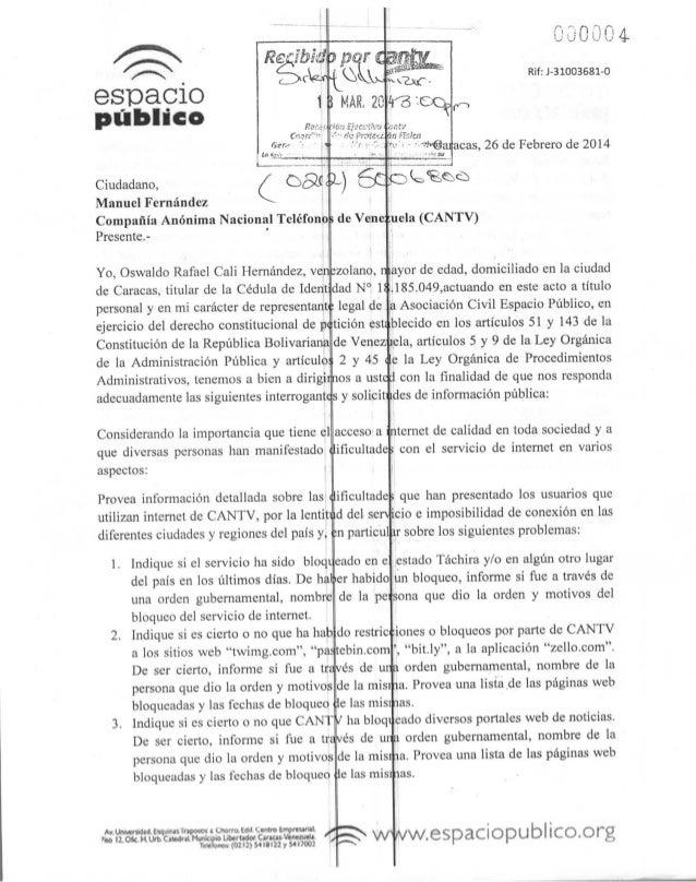 espaco público fien-- Ul *.:•>•'_ J Ciudadano, Manuel Fernández Compañía Anónima Nacional Teléfono Presente.- Yo, Oswaldo ...