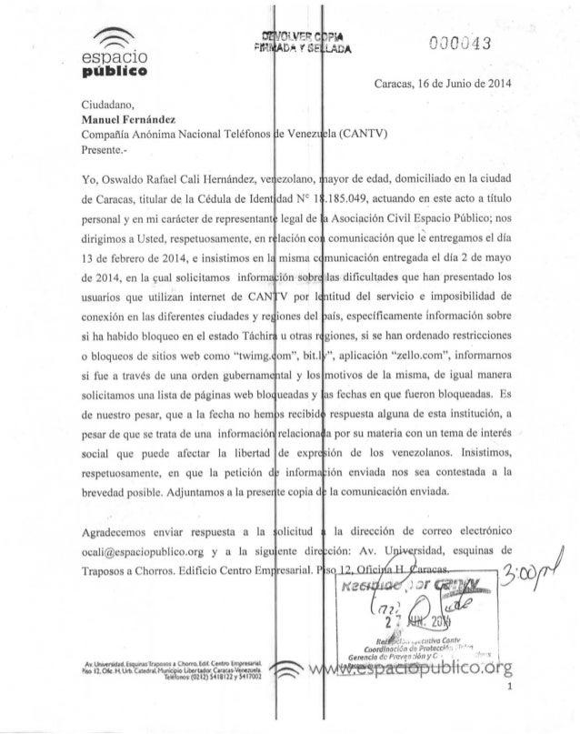 QEyOWPC espacio publico Ciudadano, Manuel Fernández Compañía Anónima Nacional Teléfonos Presente.- Yo, Oswaldo Rafael Cali...