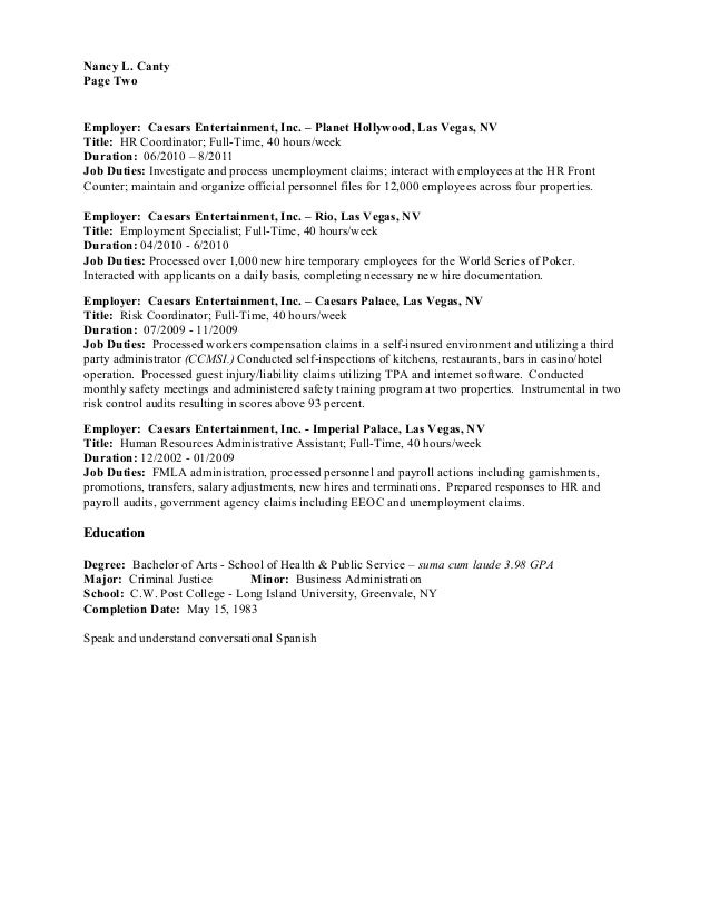 resume hr professional with 15 yrs experience ba degree