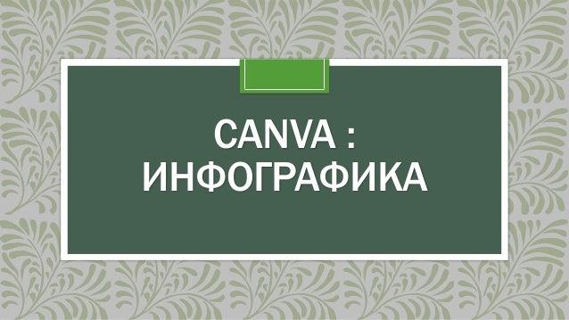 CANVA : ИНФОГРАФИКА