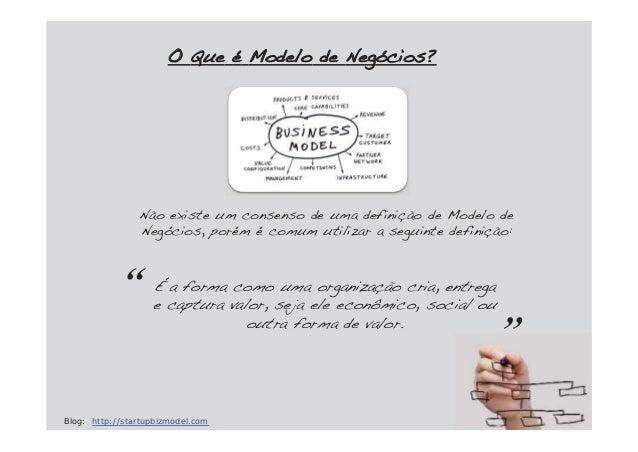 Não existe um consenso de uma definição de Modelo deNegócios, porém é comum utilizar a seguinte definição:OO Que é Modelo ...