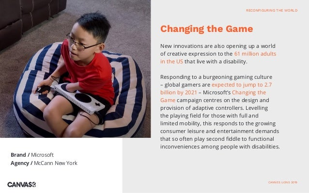 Brand / Microsoft Agency / McCann New York New innovations are also opening up a world of creative expression to the 61 mi...