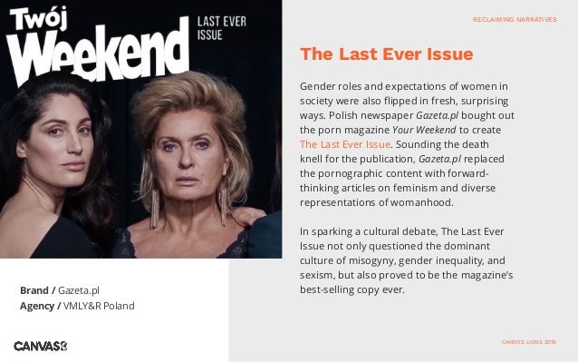 Brand / Gazeta.pl Agency / VMLY&R Poland Gender roles and expectations of women in society were also flipped in fresh, sur...