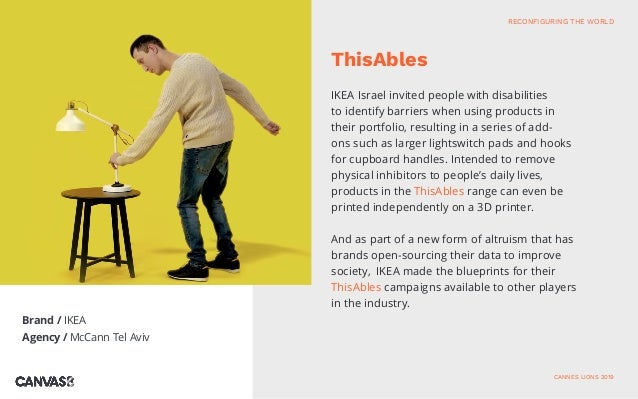 Brand / IKEA Agency / McCann Tel Aviv IKEA Israel invited people with disabilities to identify barriers when using product...