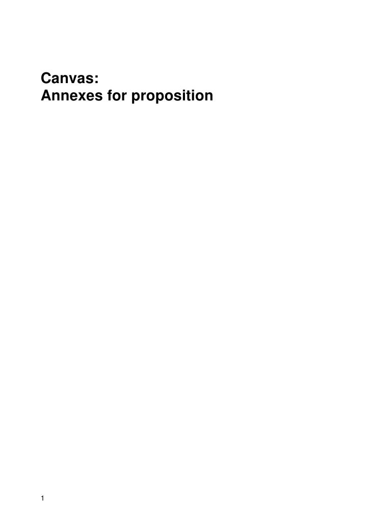 Canvas: Annexes for proposition     1