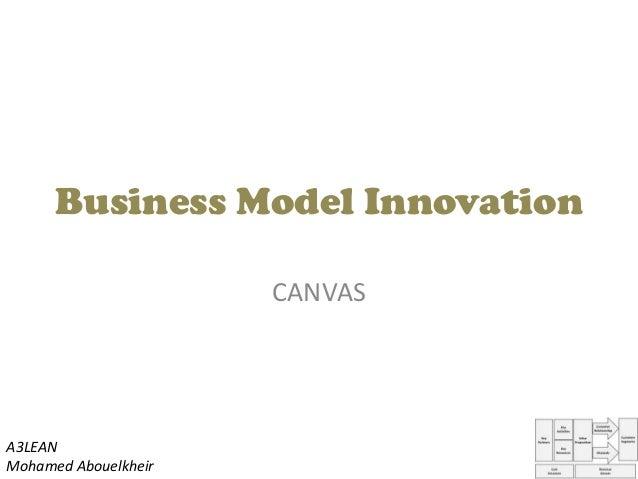 Business Model InnovationCANVASA3LEANMohamed Abouelkheir