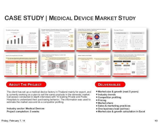 Market research case study