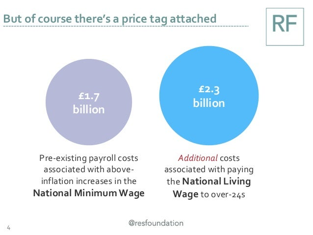 4 But of course there's a price tag attached £1.7 billion £2.3 billion Pre-existing payroll costs associated with above- i...