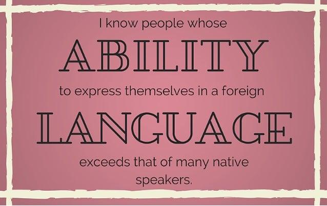 Can we learn to speak like a native? Slide 3