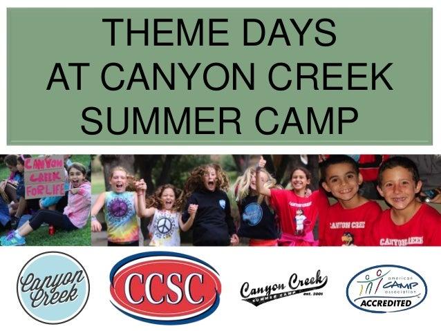 theme days at canyon creek summer camp in california