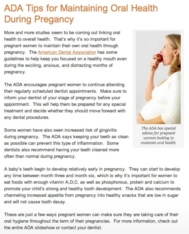 Canyon Dental Group - Oral Hygiene Tips for Pregnant Women