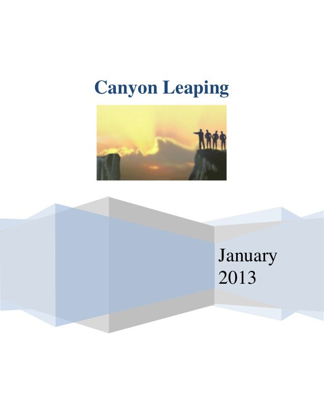 Canyon Leaping            January            2013