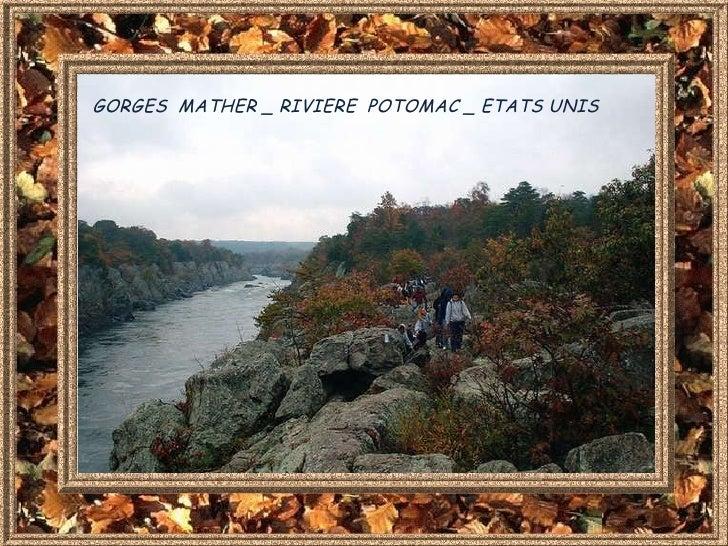 GORGES  MATHER _ RIVIERE  POTOMAC _ ETATS UNIS