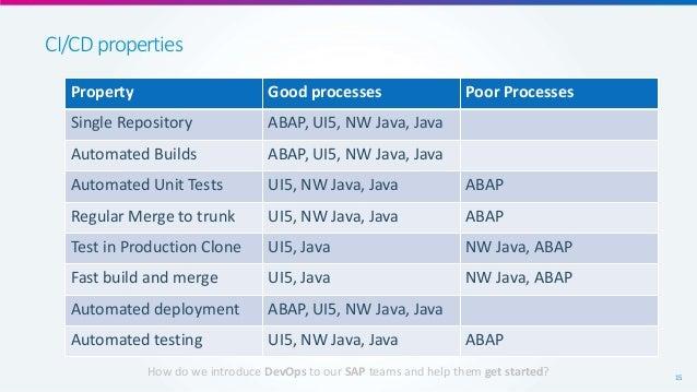 Can you do DevOps in SAP (DevOps -> SAP)