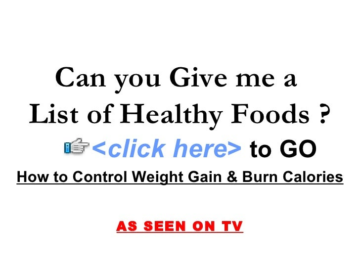 Give Me A List Of Low Fat Foods