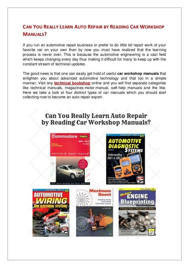 auto repair workshop manuals