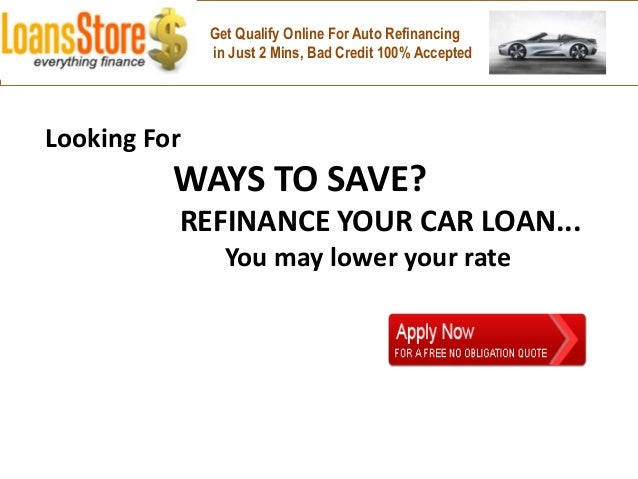 Can You Refinance An Auto Loan