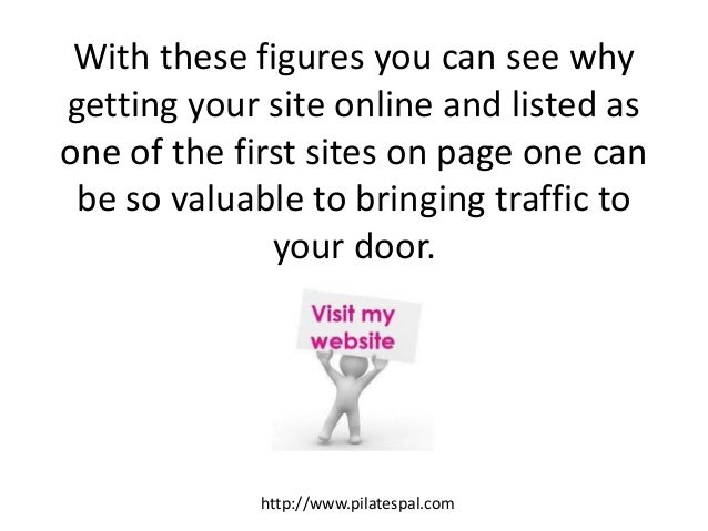 With these figures you can see why getting your site online and listed as one of the first sites on page one can be so val...
