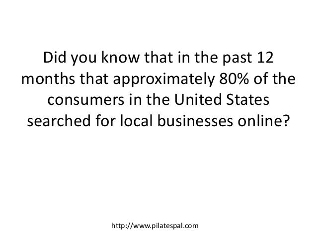 Did you know that in the past 12 months that approximately 80% of the consumers in the United States searched for local bu...