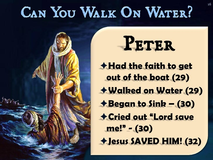 Can You Walk On Water